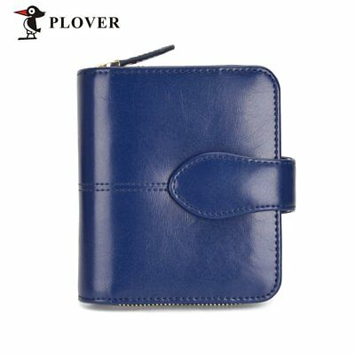 PLOVER GD5914-7NL Women Leather Wallet Clutch Coin Card Holder With Zipper F7