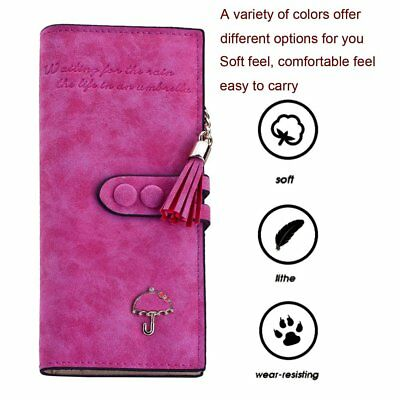 Women Soft Leather Long Hasp And Zipper Wallet Female Coin Card Money Holders F7