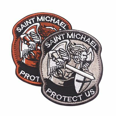 Saint Micheal Badger Military Tactical Army Morale Combat Multicam Patch F7