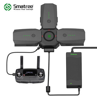 Smatree 80W Rapid Battery Charger AC Adapter and Charging Hub for DJI Mavic Pro