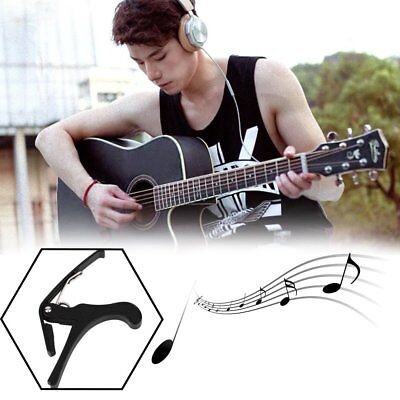 New Acoustic Electric Tune Quick Change Trigger Guitar Capo Key Clamp Black F7