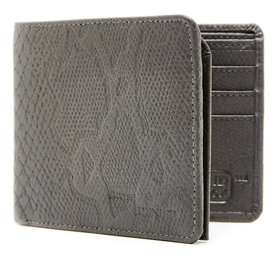 Genuine Leather Wallet Mens Bifold 6 Card Slots With Flip Up ID Window RFID Bloc