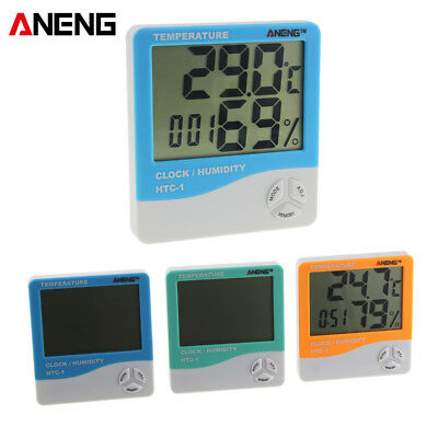 Indoor Room LCD Electronic Temperature Humidity Meter Digital Thermometer Alarm