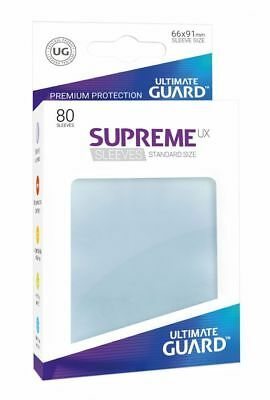 Ultimate Guard - Supreme UX Sleeves Standard Transparent 80 Pieces Card Sleeves