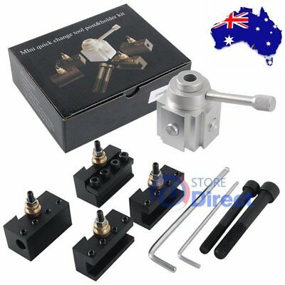 Quick Change Tool Post & Holder Kit (Suits to Most Mini Metal Lathe)