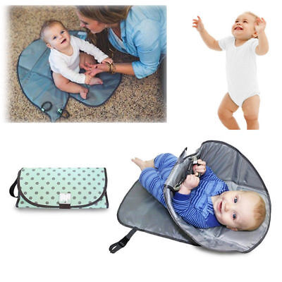 Waterproof Baby Diaper Clean Hands Changing Pad 3-in-1 Folding Diaper Clutch Mat