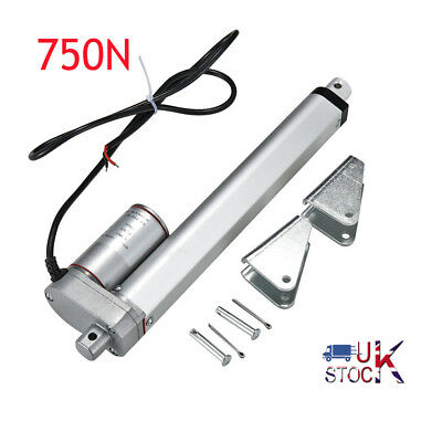 Linear Actuator Motor DC 12V 750N 50 100 150 300 400 500mm Electric Door Opener