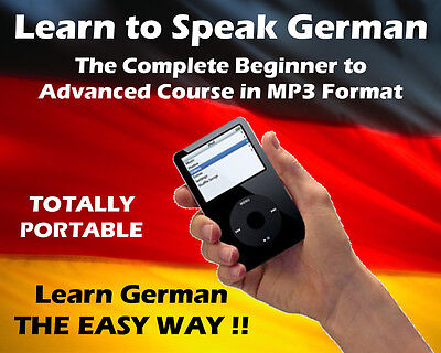LEARN TO SPEAK GERMAN No Classes! No Textbooks! MP3 Audio! Great for Beginners!