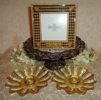 """CANDLE HOLDERS & PICTURE FRAME """"2 Holders & Treasured Memories Picture Frame"""""""