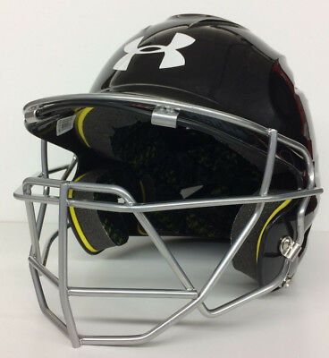 Under Armour UA Youth Baseball Batter's Helmet With Face Guard Batting Cage Mask