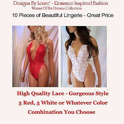 Women's Fashion 10 Beautiful Pieces of Quality Lace Lingerie Wholesale Lingerie