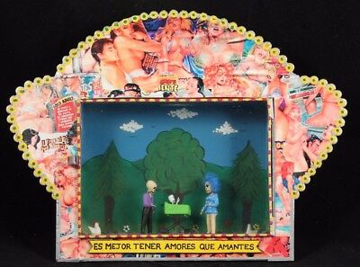 Exotic Shadow Box Niche Mexico Collectible Decorative Mexican Folk Art Hand Made