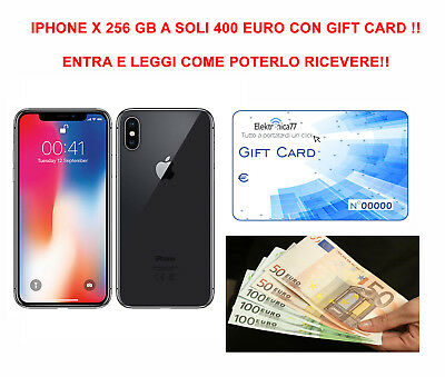 Promo!! Gift Card Per Acquisto Apple Iphone Ten 256 Gb Space Gray/silver