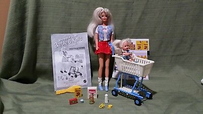 Barbie *Shoppin' Fun Barbie & Kelly Playset 1995 #15766 Mint Vintage