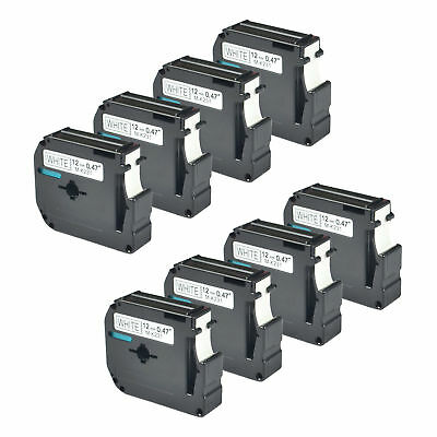 8PK Black on White Label For Brother M-K231 M231 MK231 P-touch Tape PT-85 110 90