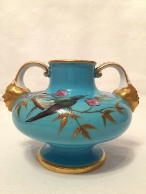 The Early Royal Crown Derby Porcelain Vase, Circa 1880's.