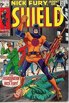 Nick Fury, Agent of SHIELD # 15 (1968) - 5.0 VG/FN *1st App. of first Bullseye*