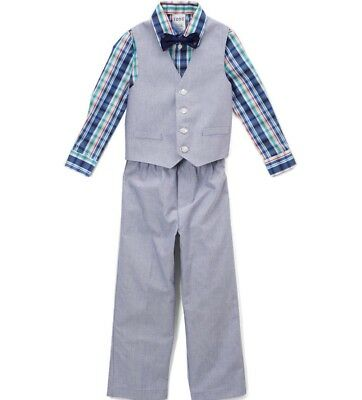 f66e29484a BOYS IZOD suit outfit 2T 3T 4T NWT Easter shirt shorts bow tie vest ...
