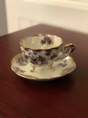 Teacup And Saucer Napco Hand Painted China