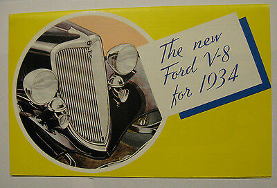 1934 Ford Full Line Sales Brochure ~ Quality Reprint ~