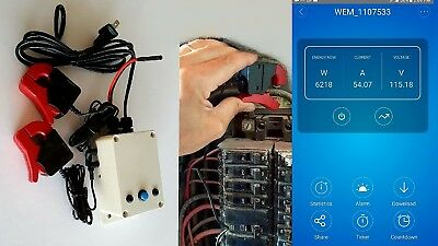 Smart electrical meter for 1,2,3 phase + remote ON/OFF switching/Web based Plus.