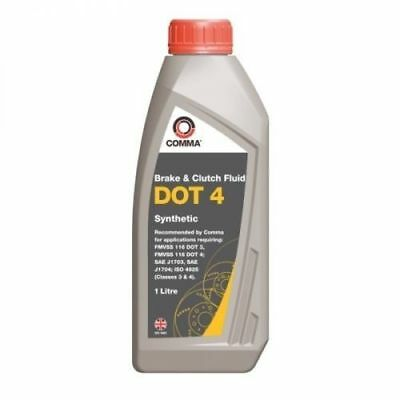 COMMA - Dot 4 Synthetic Brake And Clutch Fluid 1 Litre -