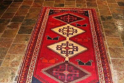 70's 272X143 GENUINE HAND-KNOTTED TRIBAL P. RUG RUNNER NATURAL DYES