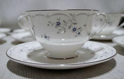 LOT of 4 Royal Doulton Cotillion Footed Cup and Saucer SETS H4962 Excellent!