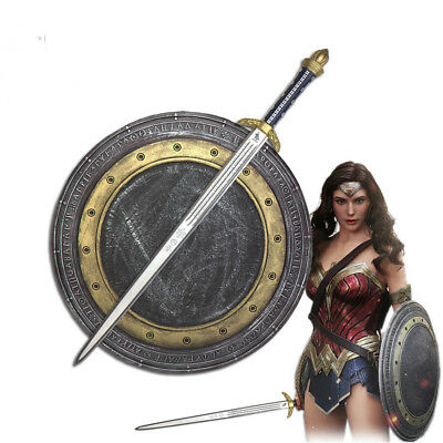 Wonder Woman Diana Prince Cosplay Sword Shield Set Rubber Halloween Cos Props