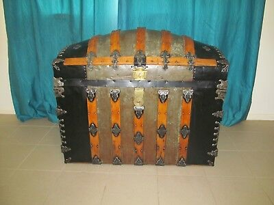 Antique Dome Top Trunk / Chest 1800's
