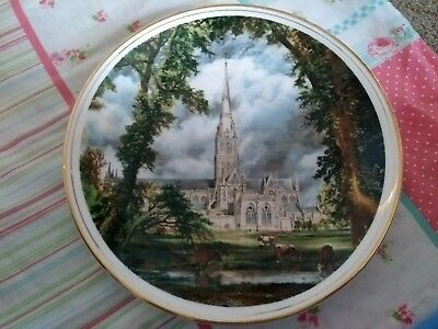 Collector Plate John Constable Salisbury Cathedral English Fenton Fine china,10""