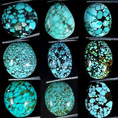 100% Natural Tibet Turquoise Oval, Pear, Round, Cabochon Loose Gemstone