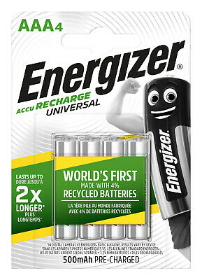 Energizer Batterie Rechargeable Rechargeable R03-AAA-Micro 500 MAH - 4 Pièces