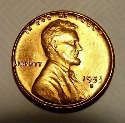 1935-P Lincoln Wheat 1c~#1 CHOICE BU//RED//RARE from CHOICE OBW roll.99 SHIPS