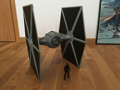 """Star Wars Grey TIE Fighter 2006, """"Big Wings"""" Movie Scale. Saga Collection"""