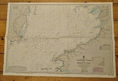 Vintage Admiralty Chart of Carsore Point to Braich-y-Pwll, Ireland / Wales
