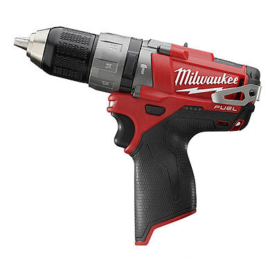 "Milwaukee 12Volt M12 FUEL Brushless 1/2"" Hammer Drill 2404-20 With original Case"