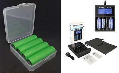 4 Sony Batteries Konion US 18650 VTC6 Inclus Xtar VC4 Chargeur & Battery Box