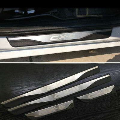 New ABS & Steel Door Sill Scuff Plate Guards For Mazda CX-5 2015-2017 SkyActive