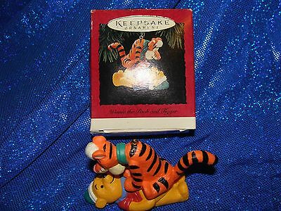 Disney Winnie the Pooh and Tigger 1994 Hallmark Christmas Keepsake Ornament MIB