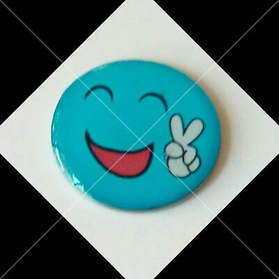 anneys ~ GOLF  BALL  MARKER - * blue peace smiley * ~