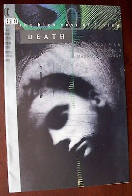 DC Comics Vertigo 1 of  3 March 1993 High Cost of Living Death Neil Gaiman et al