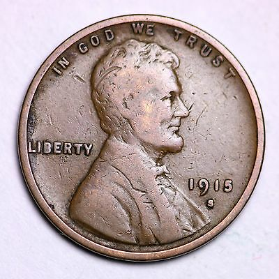 1915-S Lincoln Wheat Cent Penny LOWEST PRICES ON THE BAY!  FREE SHIPPING!