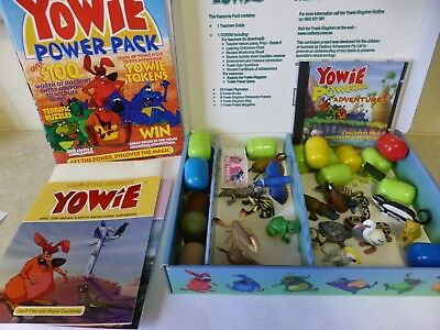 Yowie 1995 Ecology Resource Pack With 16 Yowies Books Map Etc + Poster