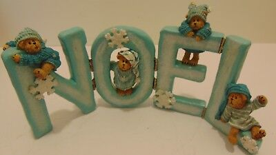 Chillie, Frost, Snowy & Flake Boyds Bears Noel Holiday Figueine!!!