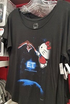 New Universal Hello Kitty and ET Ladies Shirt Size XXL Plus Size RARE