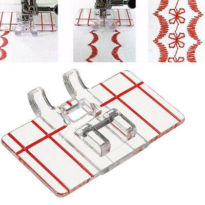 FT- Clear Plastic Parallel Stitch Foot Presser for Home Sewing Machine Tool Swee