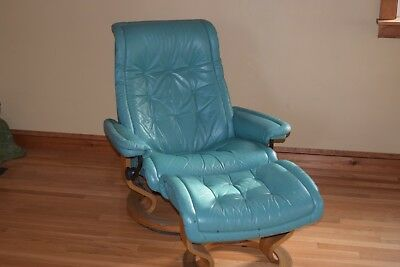 Ekornes Stressless Recliner Leather Lounge Chair U0026 Ottoman Danish Modern  Eames