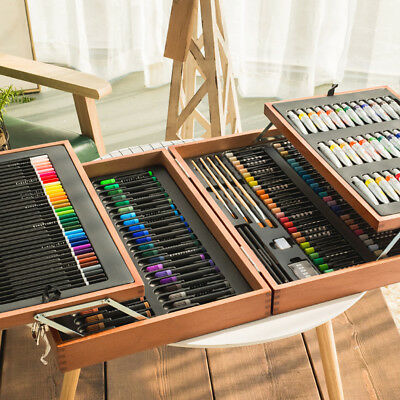 HOT 174 Piece Studio Mixed Media Art Set Painting Set Acry Gifts·