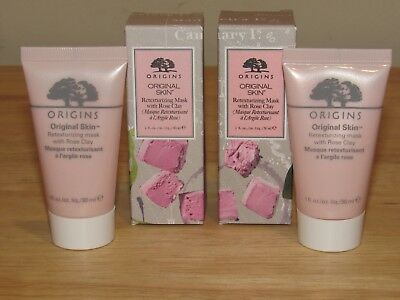 x2 Lot Origins Retexturizing Mask With Rose Clay Face Facial 1 x 2 = 2 Oz Total